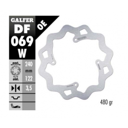 DISCO FRENO HONDA CR 125 (2002-07) POSTERIORE WAVE - GALFER
